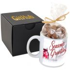 Soft Touch Gift Box with Full Color Mug and Chocolate Covered Peanuts