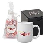 Soft Touch Gift Box with Full Color Mug and Starlight Mints Mug Drop