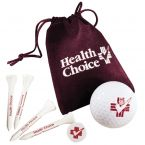 Golf Gift Set In Velour Bag