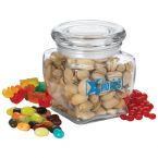 3 1/8' Footed Glass Jar with Candy Fills