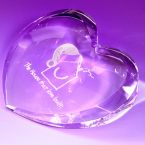 Kent Heart Shaped Paperweight