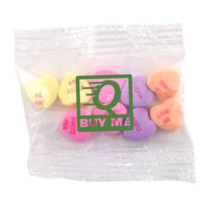 Snack Bag with Conversation Hearts