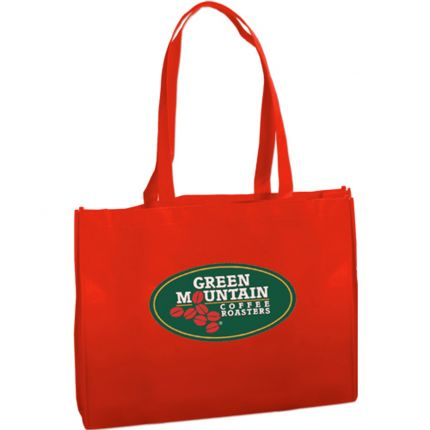 Textured Non Woven Tote Bag - Full Color