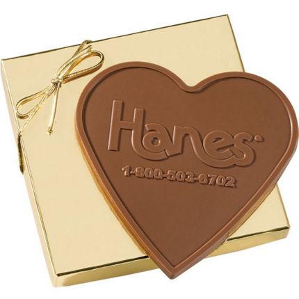 3.4 oz Heart Custom Chocolate in Gift Box