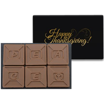 6 Chocolate Squares in Modern Gift Box