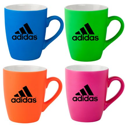 Neon Soft Touch 12oz Ceramic Mugs