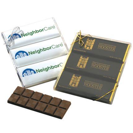 3 2.25 oz Chocolate Bar Gift Set