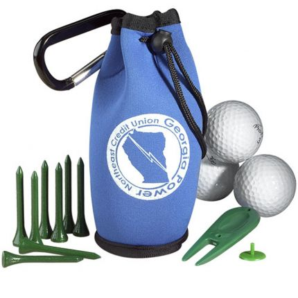 Golf Kit In Carabiner Bag