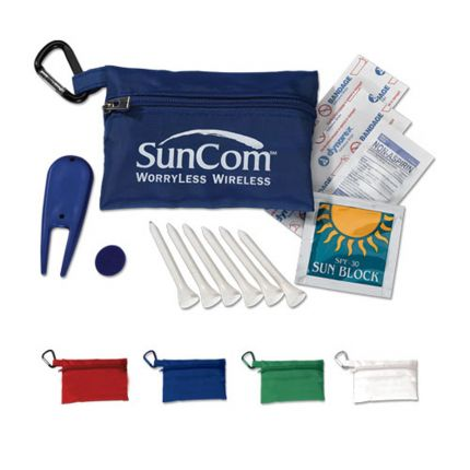 Full Color Mega Golf Kit in Zippered Bag