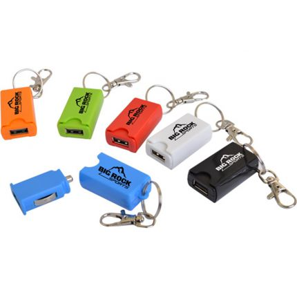 USB Car Charger on a Keychain