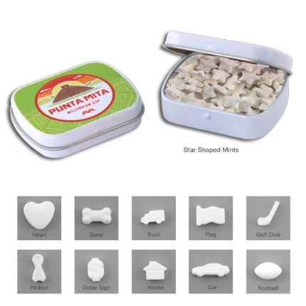 Mini Hinged Tin- Shaped Mints