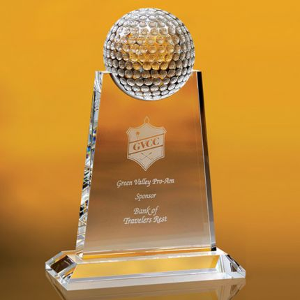 Golf Ball Topped Award 7""
