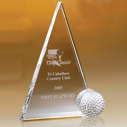 Triangular Award Golf Ball 7""