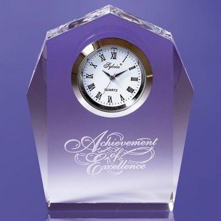 Angular Award Imbedded Clock
