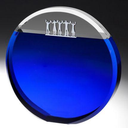 Circle Award With Chrome People Award