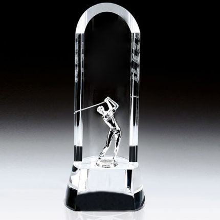 Curved Award Metal Golfer 8""