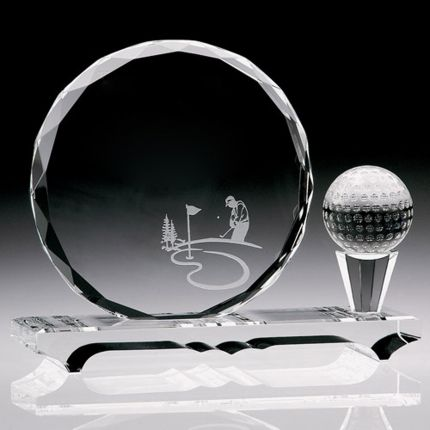 Gem Cut Award Golf Ball And Tee